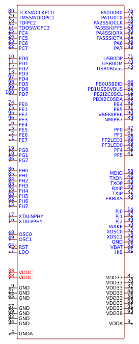 LM3S9B90-IQC80-C5   Symbol