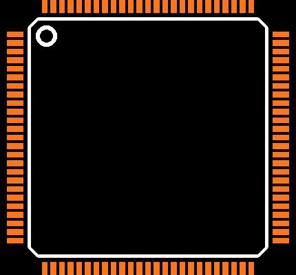 LM3S9B90-IQC80-C5   Footprint