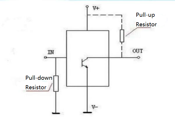 Schematic diagram of pull-down resistor.png